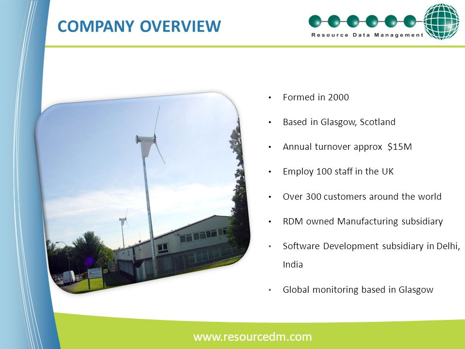 COMPANY OVERVIEW www.resourcedm.com Formed in 2000