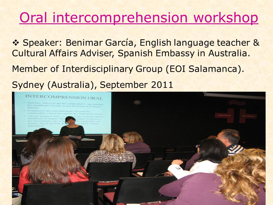 Oral intercomprehension workshop