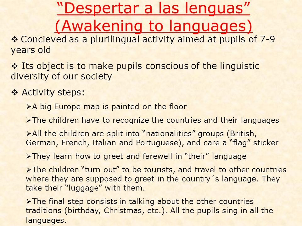 Despertar a las lenguas (Awakening to languages)