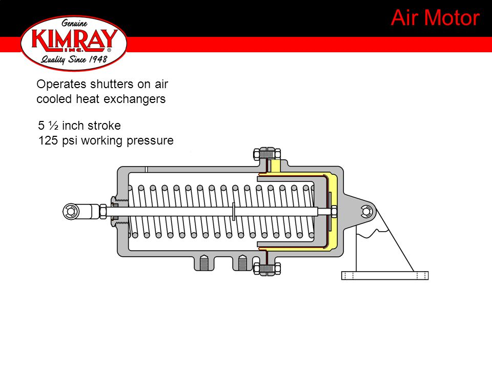 Air Motor Operates shutters on air cooled heat exchangers