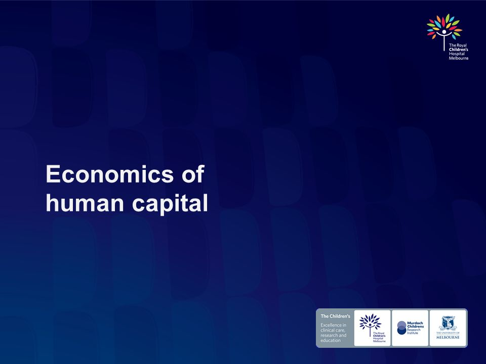 Economics of human capital