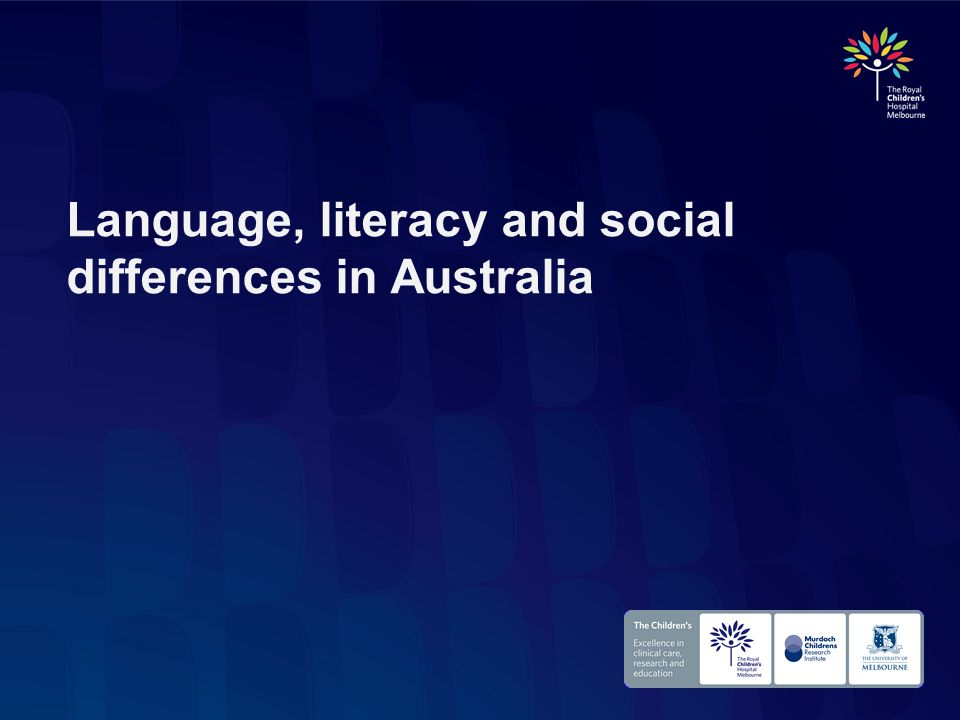 Language, literacy and social differences in Australia