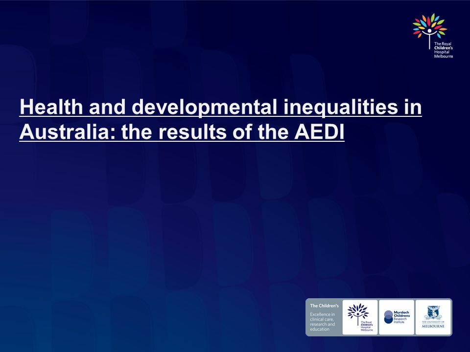 Health and developmental inequalities in Australia: the results of the AEDI
