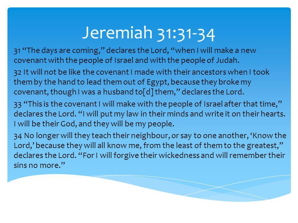 Jeremiah 31:31-34