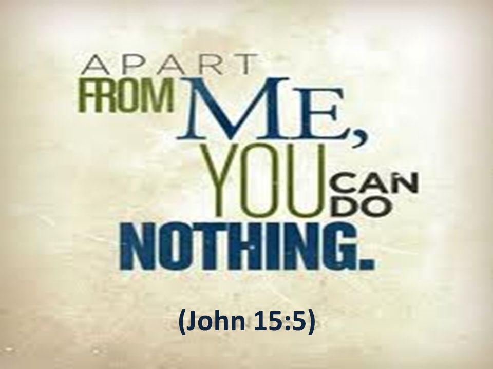 (John 15:5)