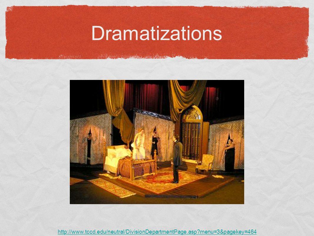 Dramatizations http://www.tccd.edu/neutral/DivisionDepartmentPage.asp menu=3&pagekey=464