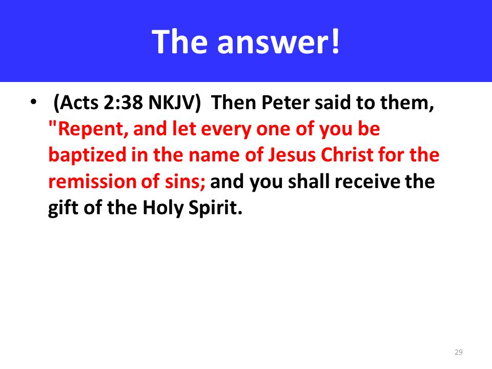 The answer!