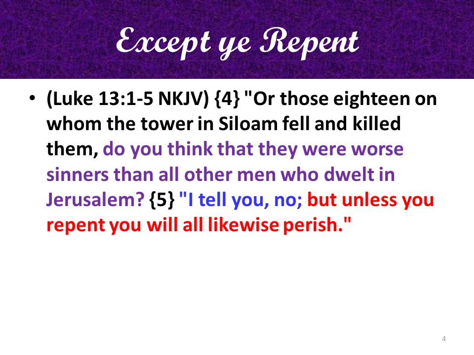 Except ye Repent