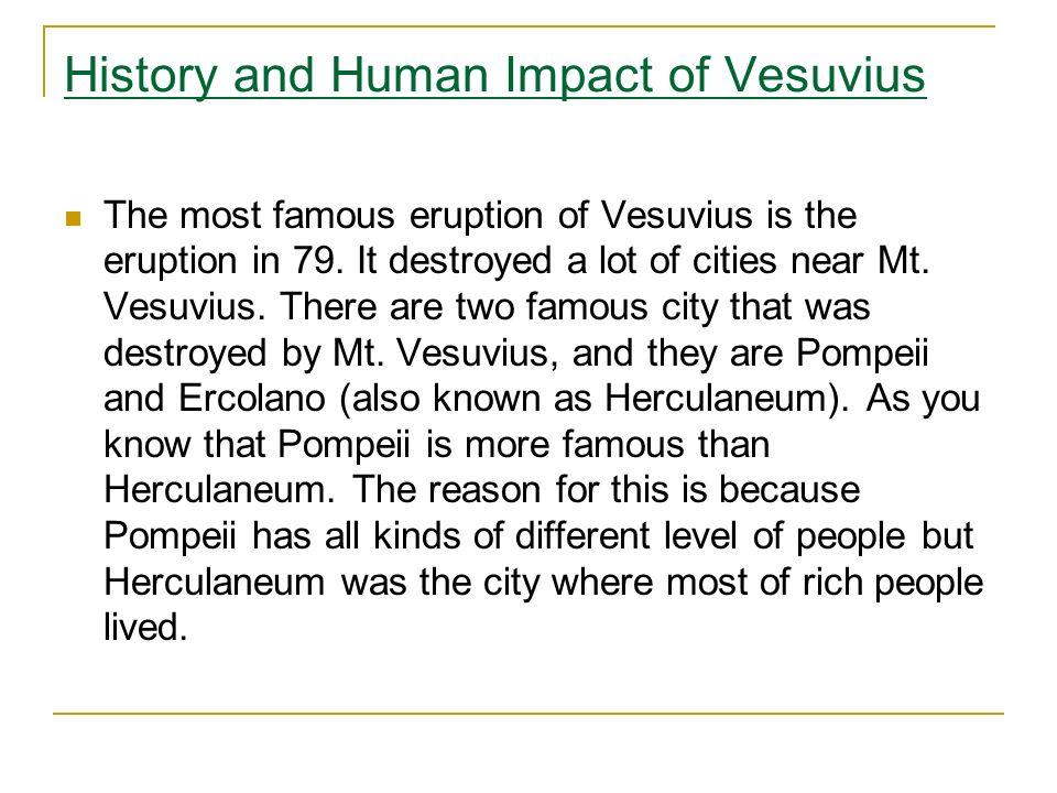 History and Human Impact of Vesuvius