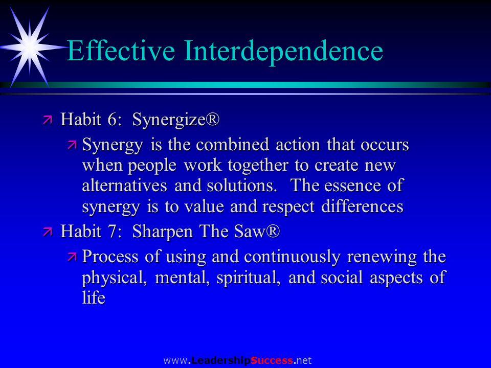 Effective Interdependence