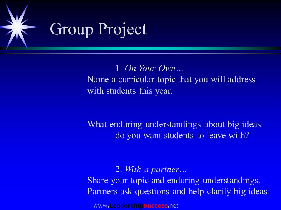 Group Project 1. On Your Own…