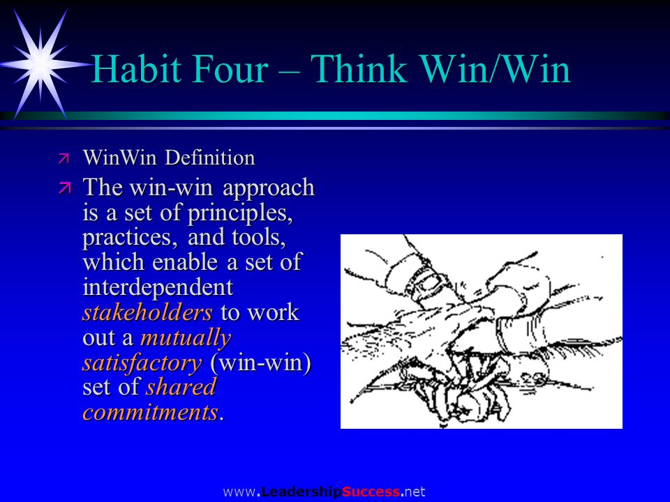 Habit Four – Think Win/Win