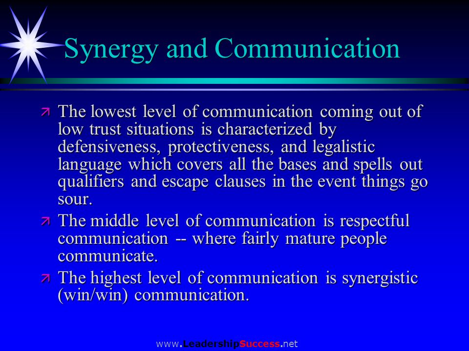 Synergy and Communication