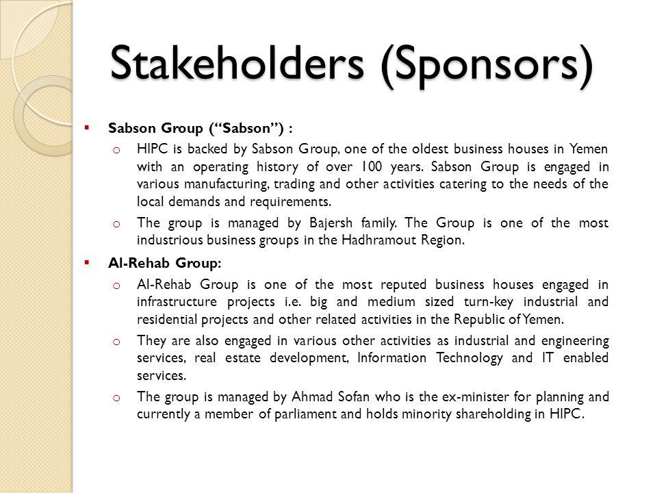 Stakeholders (Sponsors)