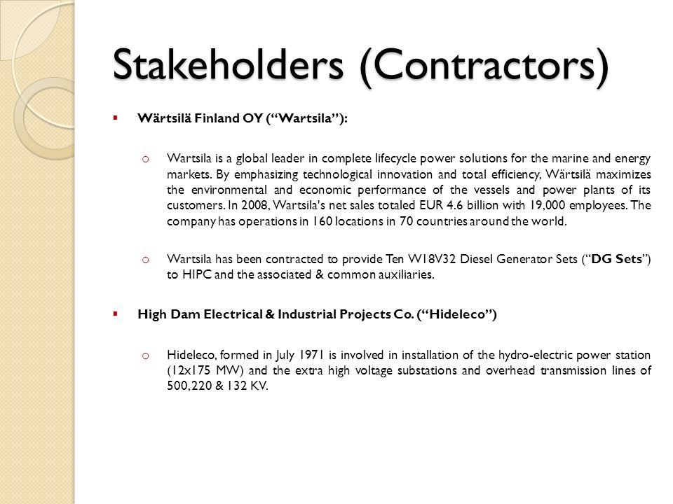 Stakeholders (Contractors)
