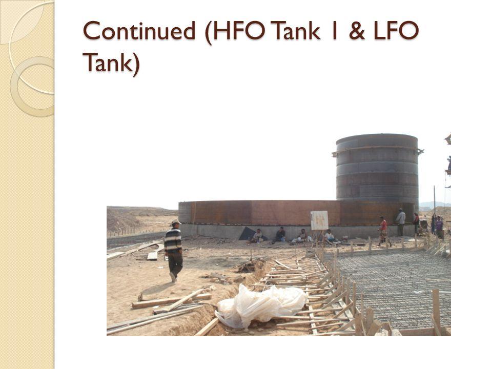 Continued (HFO Tank 1 & LFO Tank)
