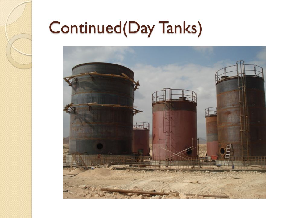Continued(Day Tanks)