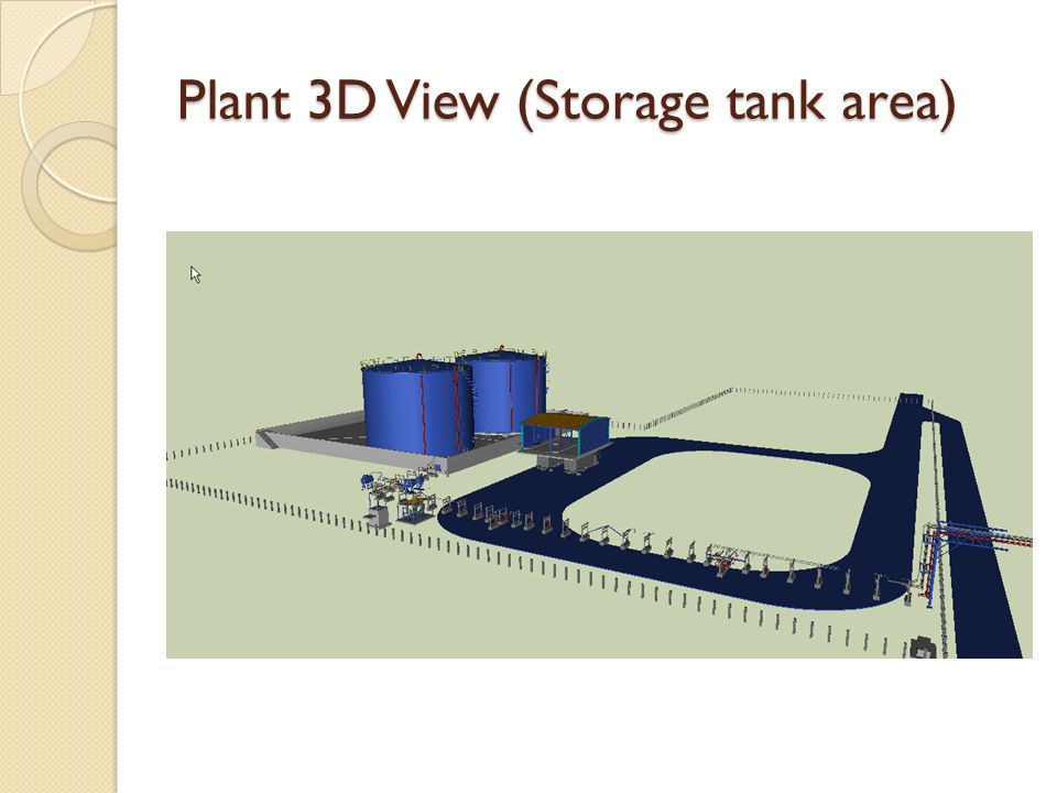 Plant 3D View (Storage tank area)