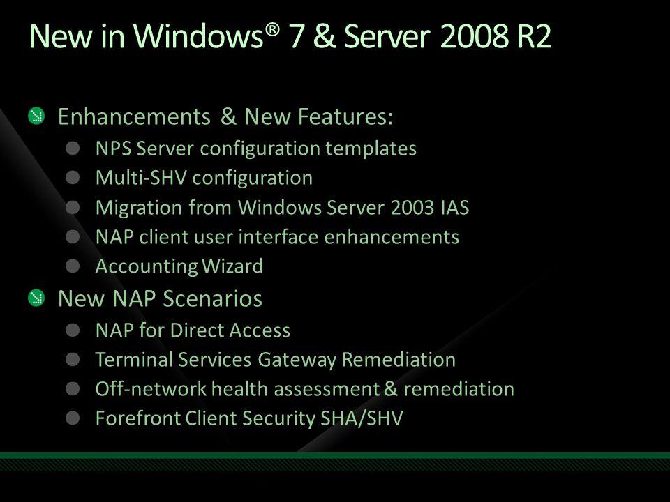 New in Windows® 7 & Server 2008 R2