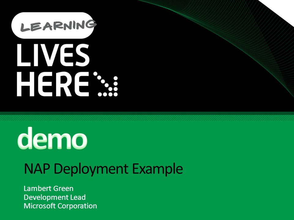 NAP Deployment Example