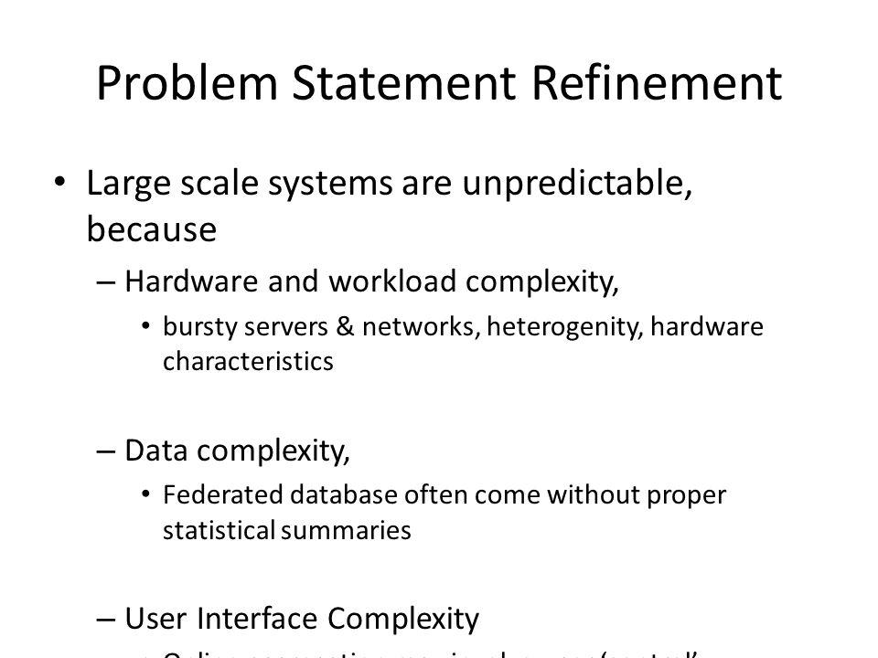 Problem Statement Refinement