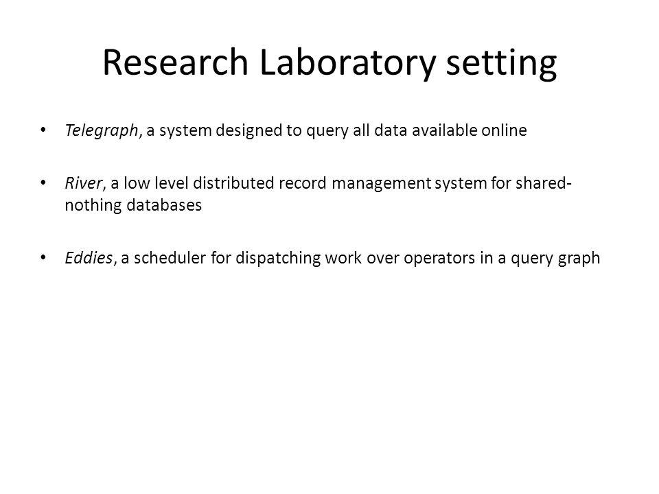 Research Laboratory setting