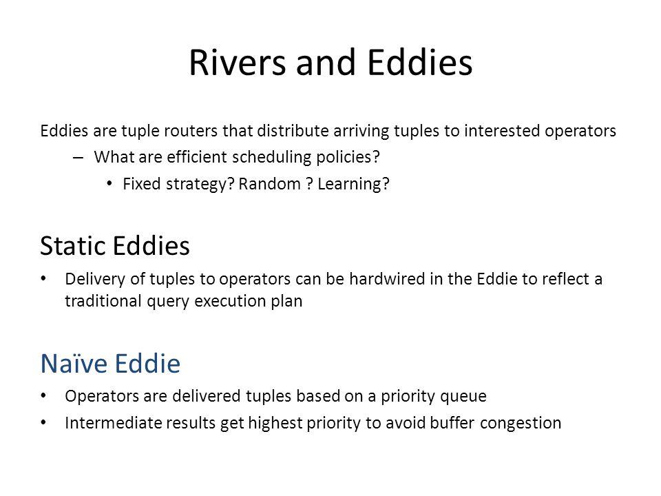 Rivers and Eddies Static Eddies Naïve Eddie