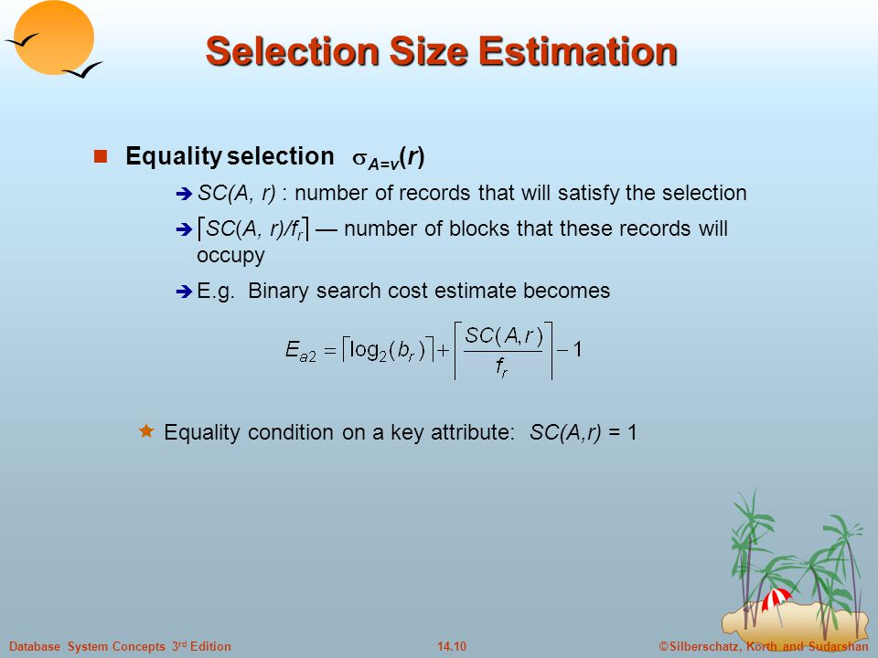 Selection Size Estimation