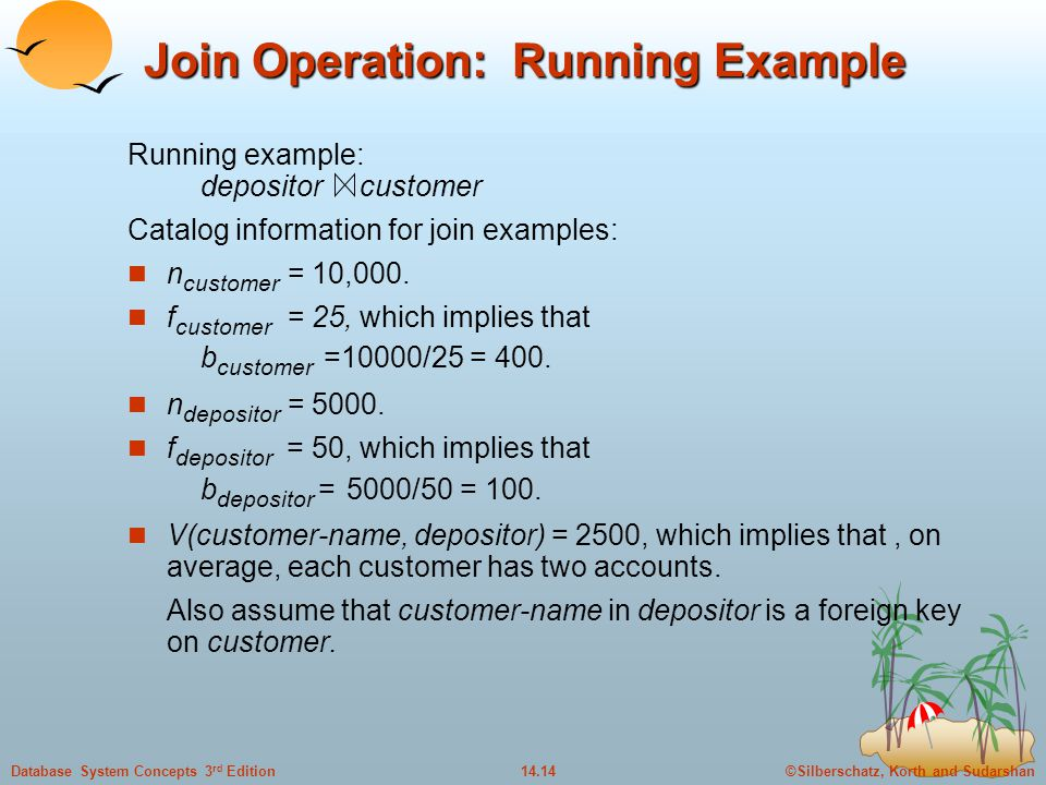 Join Operation: Running Example