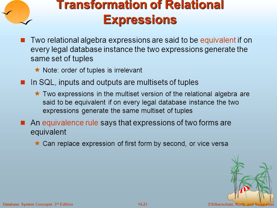 Transformation of Relational Expressions