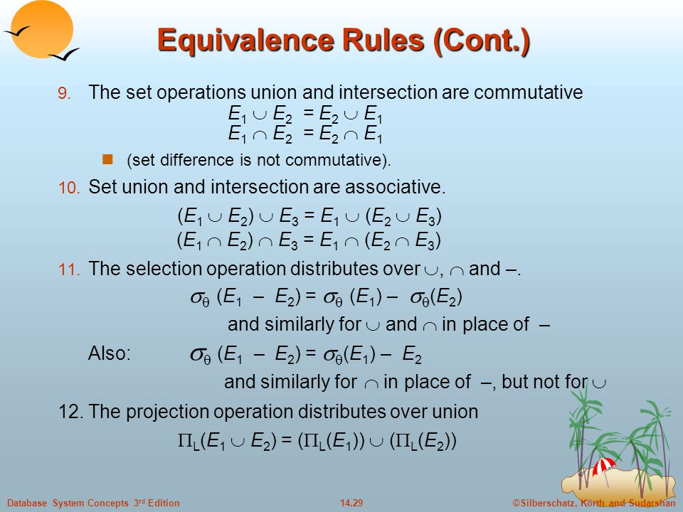 Equivalence Rules (Cont.)