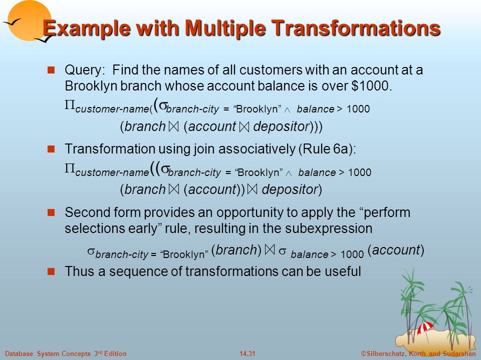 Example with Multiple Transformations