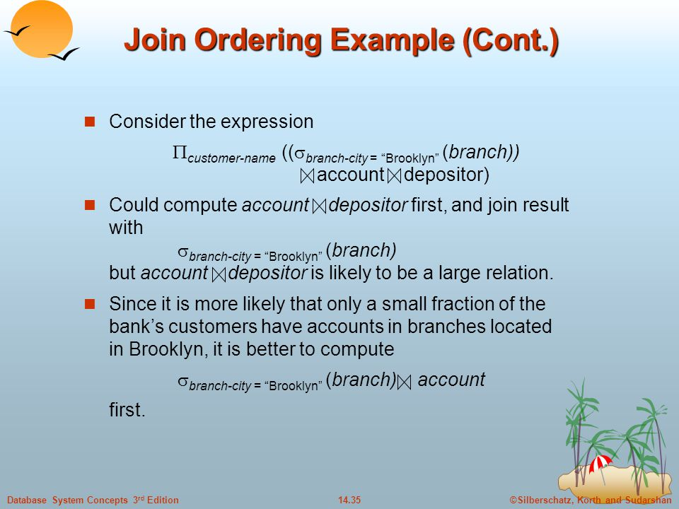 Join Ordering Example (Cont.)