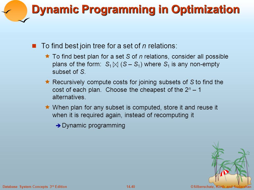 Dynamic Programming in Optimization