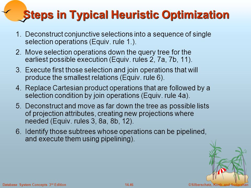 Steps in Typical Heuristic Optimization