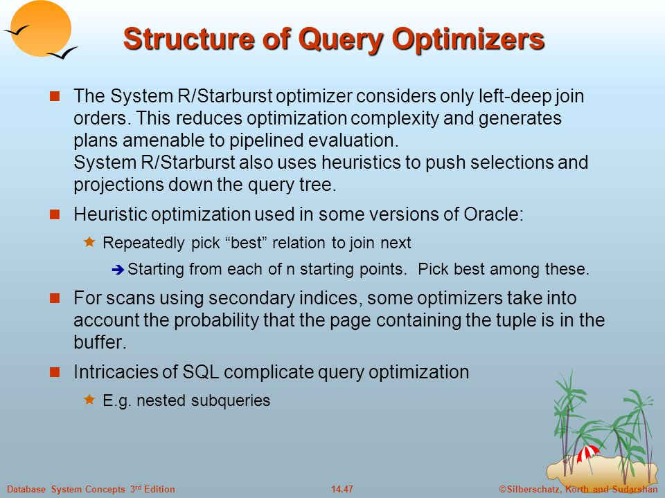 Structure of Query Optimizers