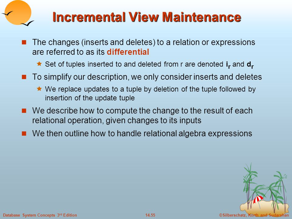Incremental View Maintenance
