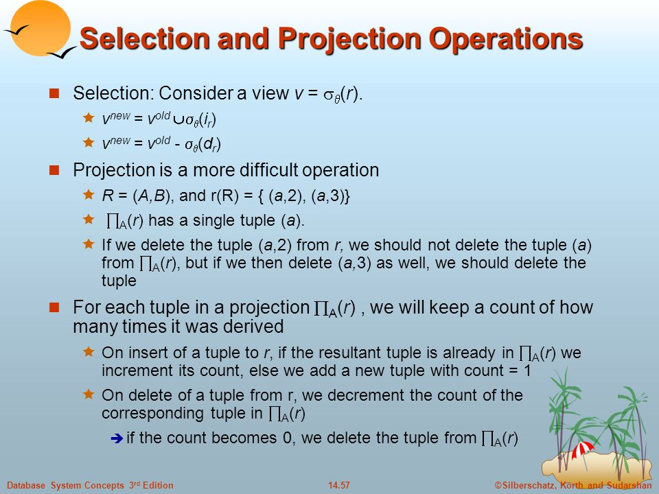 Selection and Projection Operations