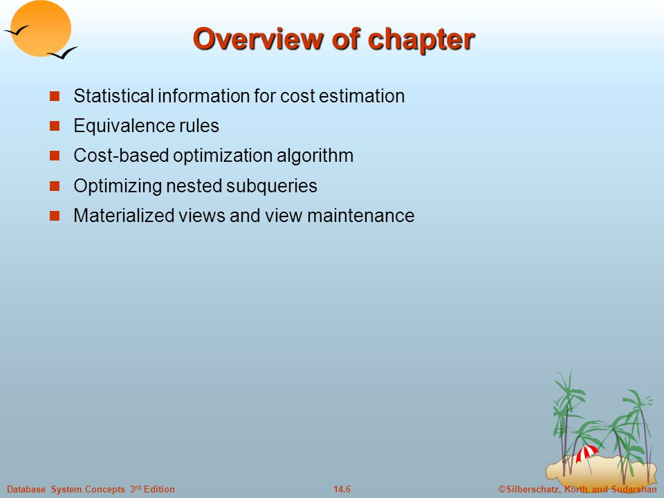 Overview of chapter Statistical information for cost estimation