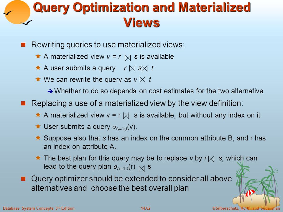 Query Optimization and Materialized Views