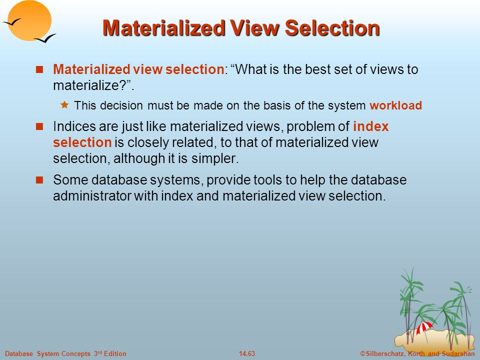 Materialized View Selection