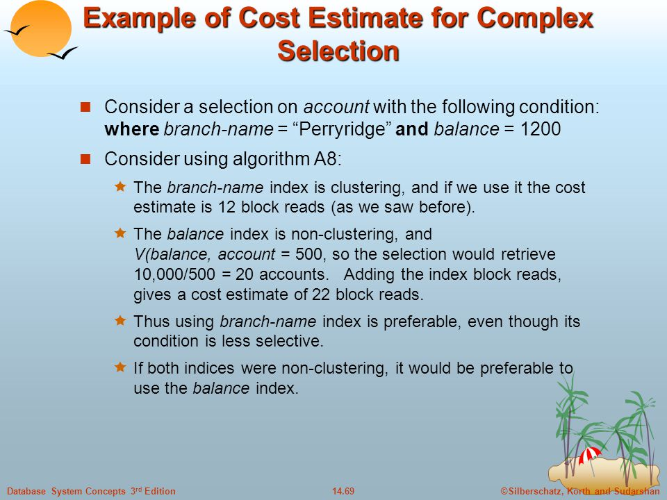 Example of Cost Estimate for Complex Selection
