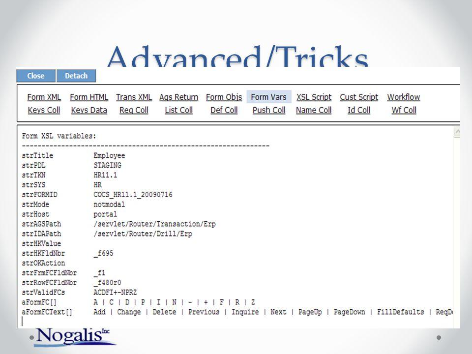 Advanced/Tricks