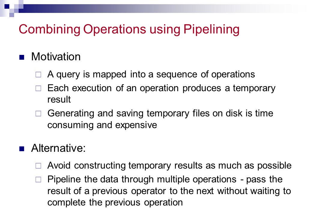 Combining Operations using Pipelining