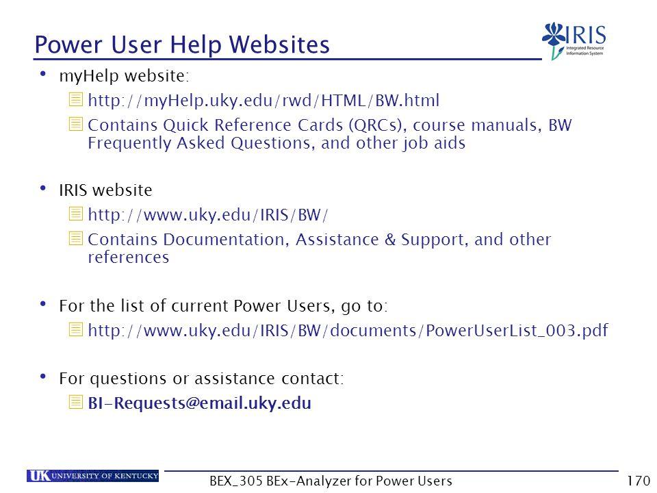 Power User Help Websites