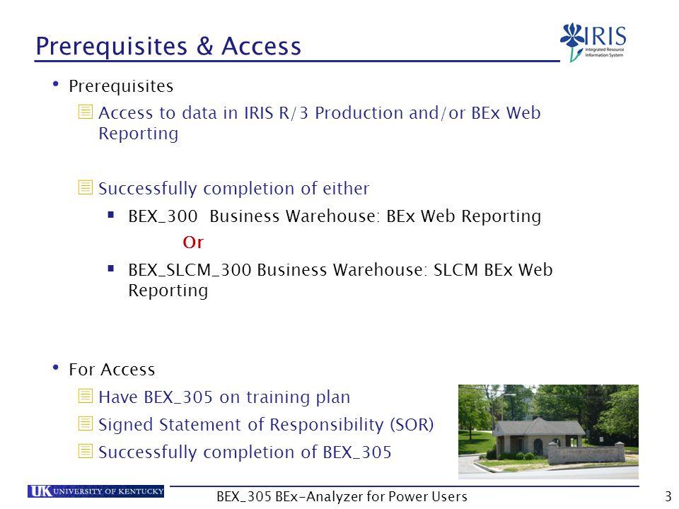 Prerequisites & Access