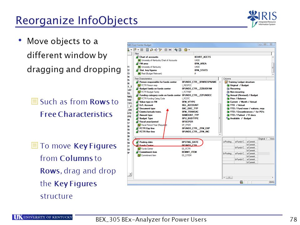 Reorganize InfoObjects
