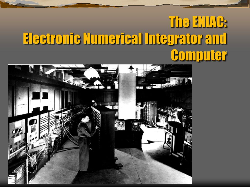 The ENIAC: Electronic Numerical Integrator and Computer