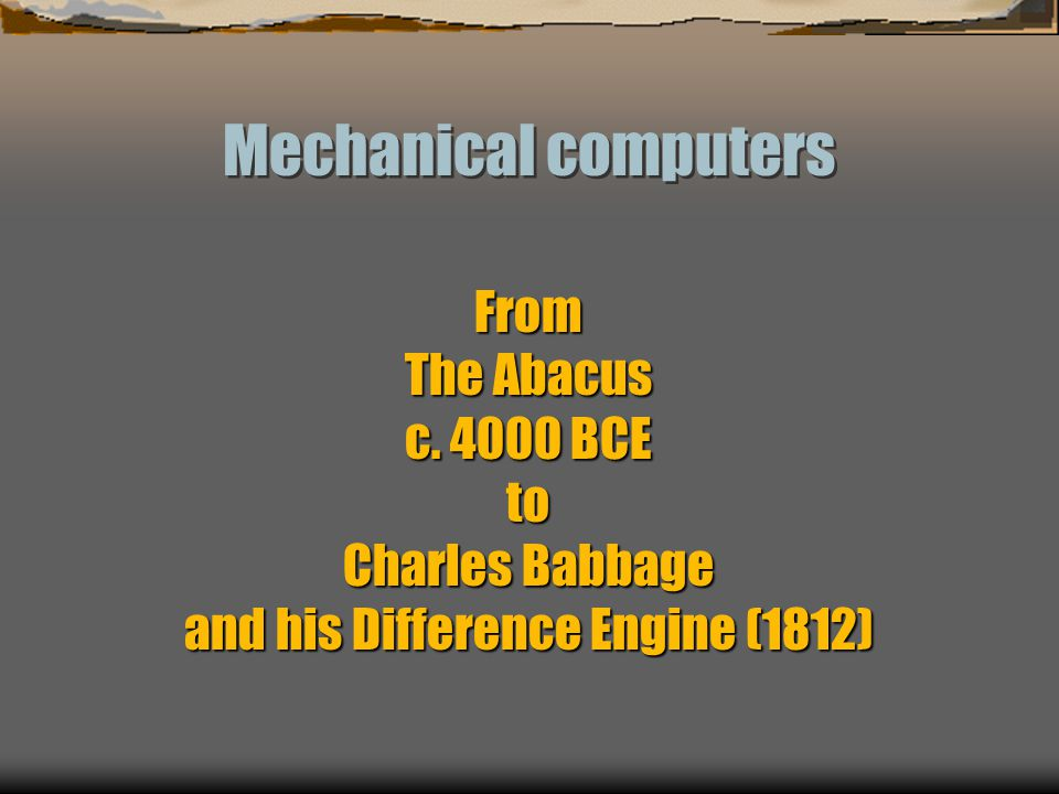 and his Difference Engine (1812)