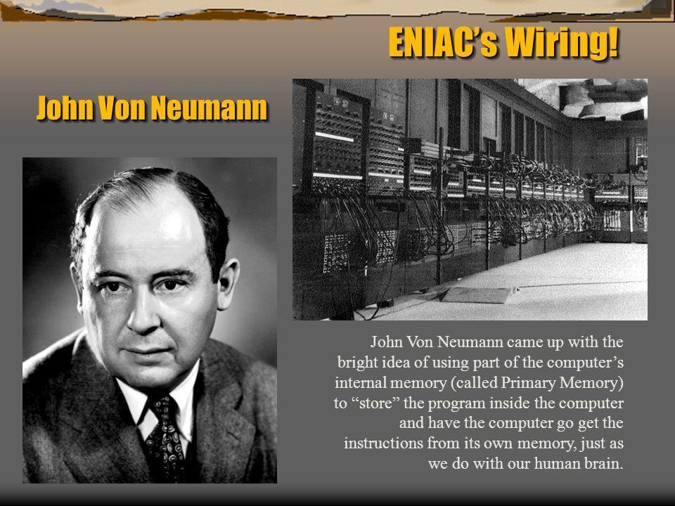 ENIAC's Wiring! John Von Neumann